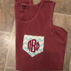 Pi Beta Phi Comfort Colors Tank Top